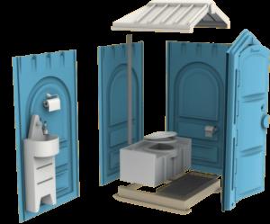 Мобильная туалетная кабина биотуалет Люкс